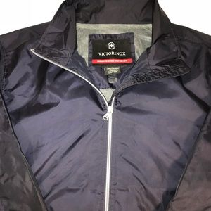 Victorinox Zurich Navy Full Zip Windbreaker Jacket